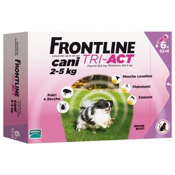 Frontline TRI-ACT - Frontline tri-act Cani 2-5 kg 6 pipette