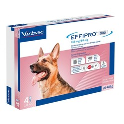 Virbac - Effipro duo cane spot-on 268 mg 20-40 kg 4 pipette