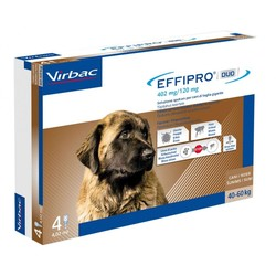Virbac - Effipro duo cane spot-on 402 mg 40-60 kg 4 pipette